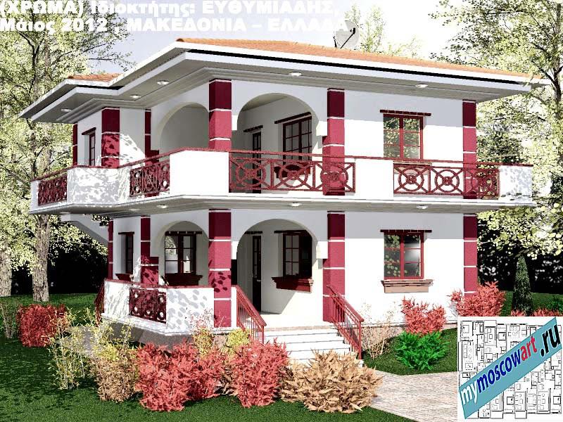 Проект дома - Ефимиадиc (Город Аспровальта - Греция) (32)