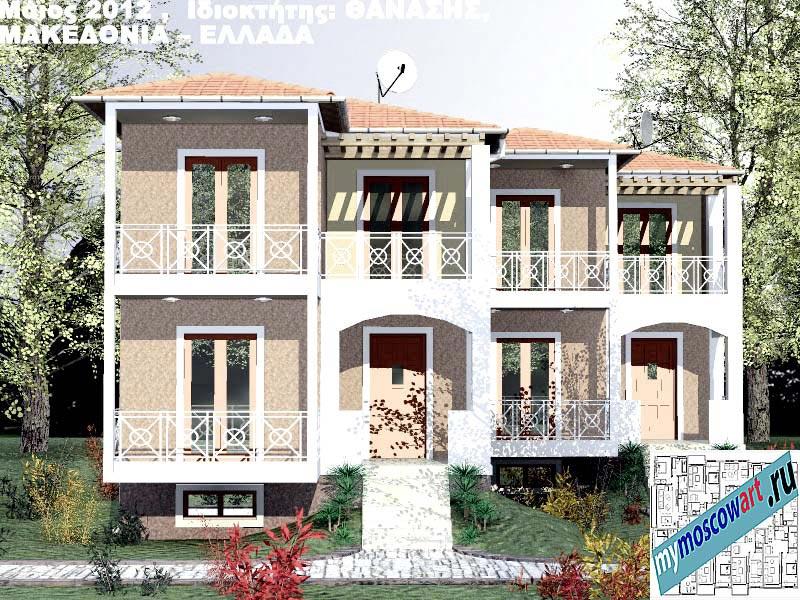 Проект дома - Фанасис (Город Аспровальта - Греция) (1)