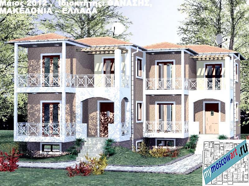 Проект дома - Фанасис (Город Аспровальта - Греция) (2)