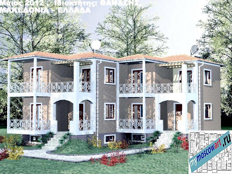 Проект дома - Фанасис (Город Аспровальта - Греция) (3)