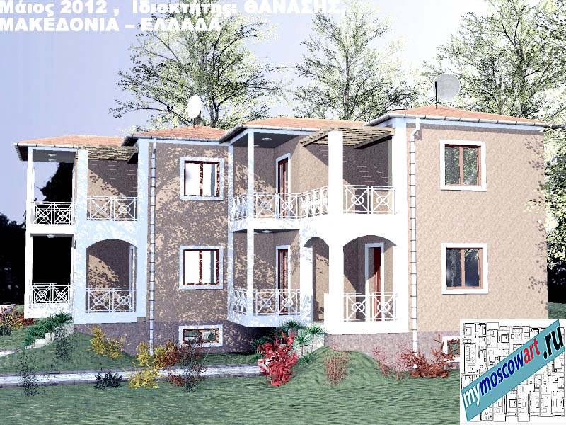 Проект дома - Фанасис (Город Аспровальта - Греция) (5)