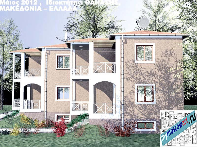 Проект дома - Фанасис (Город Аспровальта - Греция) (6)