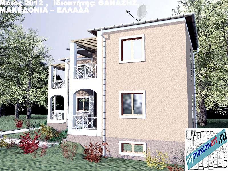 Проект дома - Фанасис (Город Аспровальта - Греция) (7)