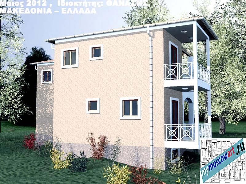 Проект дома - Фанасис (Город Аспровальта - Греция) (11)