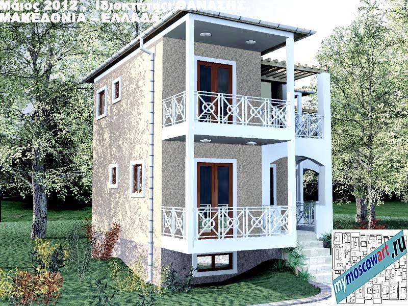 Проект дома - Фанасис (Город Аспровальта - Греция) (12)
