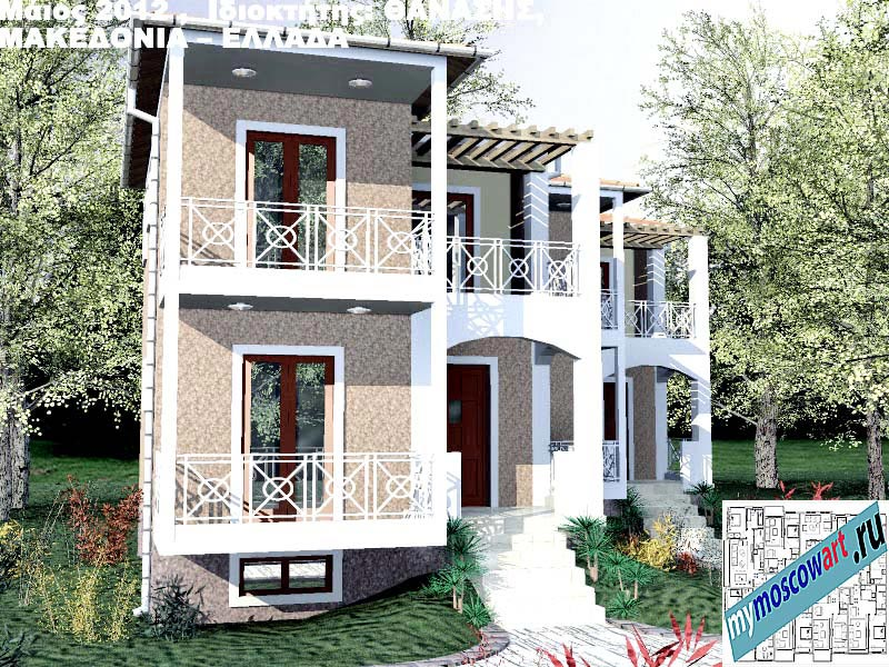 Проект дома - Фанасис (Город Аспровальта - Греция) (13)