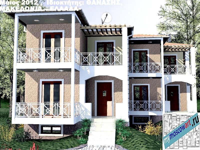 Проект дома - Фанасис (Город Аспровальта - Греция) (14)