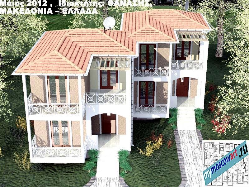 Проект дома - Фанасис (Город Аспровальта - Греция) (15)