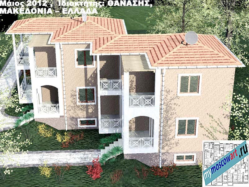 Проект дома - Фанасис (Город Аспровальта - Греция) (16)