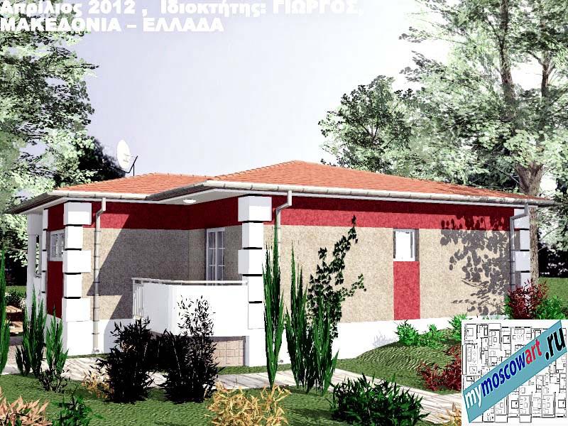 Проект дома - Григорий (Город Аспровальта - Греция) (9)