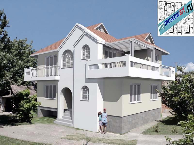 Проект дома - Динич (Деревня Главица - Сербия) (1)