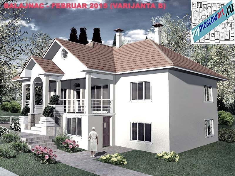 Проект дома - Милан (Деревня Балайнац - Сербия) (8)