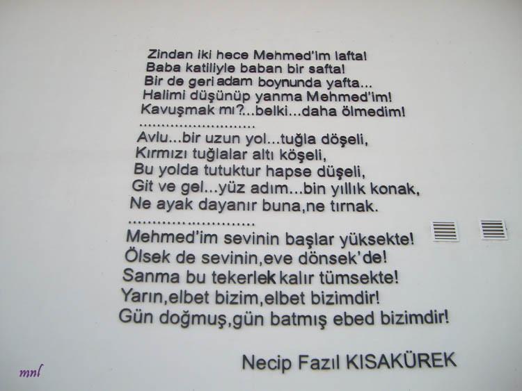 Письмо сыну Неджип Фазыл Кысакюрек