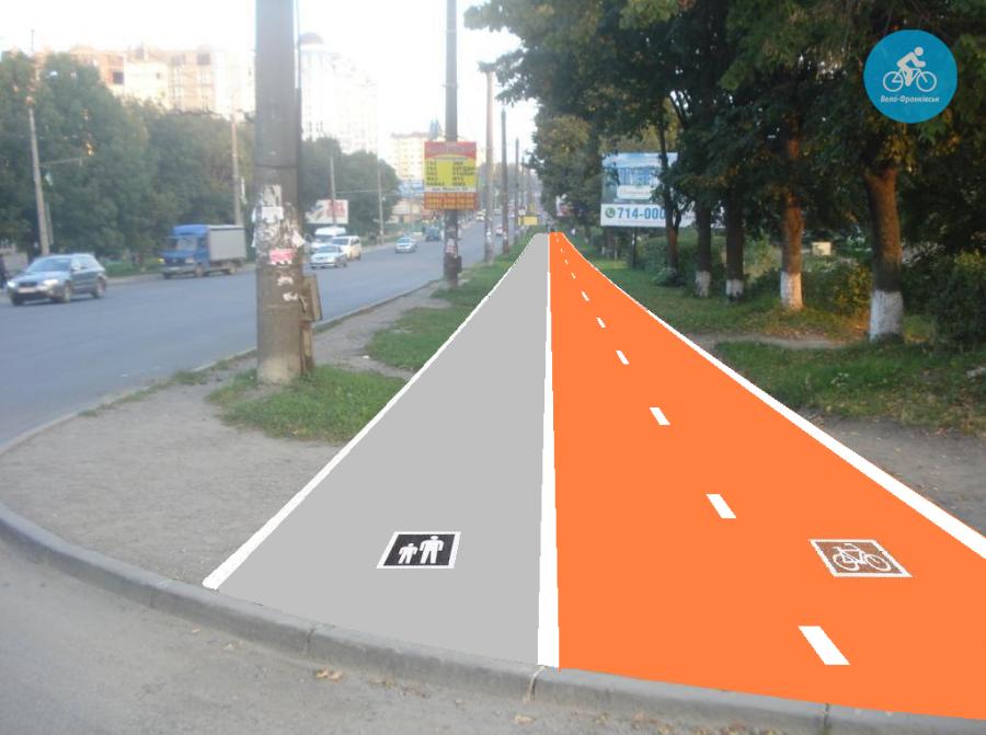 Іванофранківцям показали як можуть виглядати велодоріжки на Галицькій (фото) - фото 2
