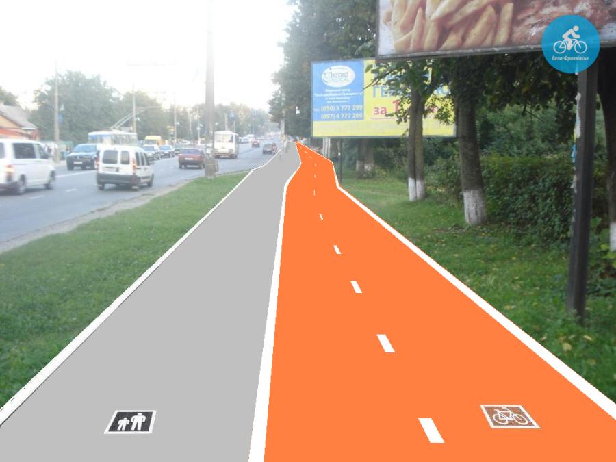 Іванофранківцям показали як можуть виглядати велодоріжки на Галицькій (фото) - фото 3