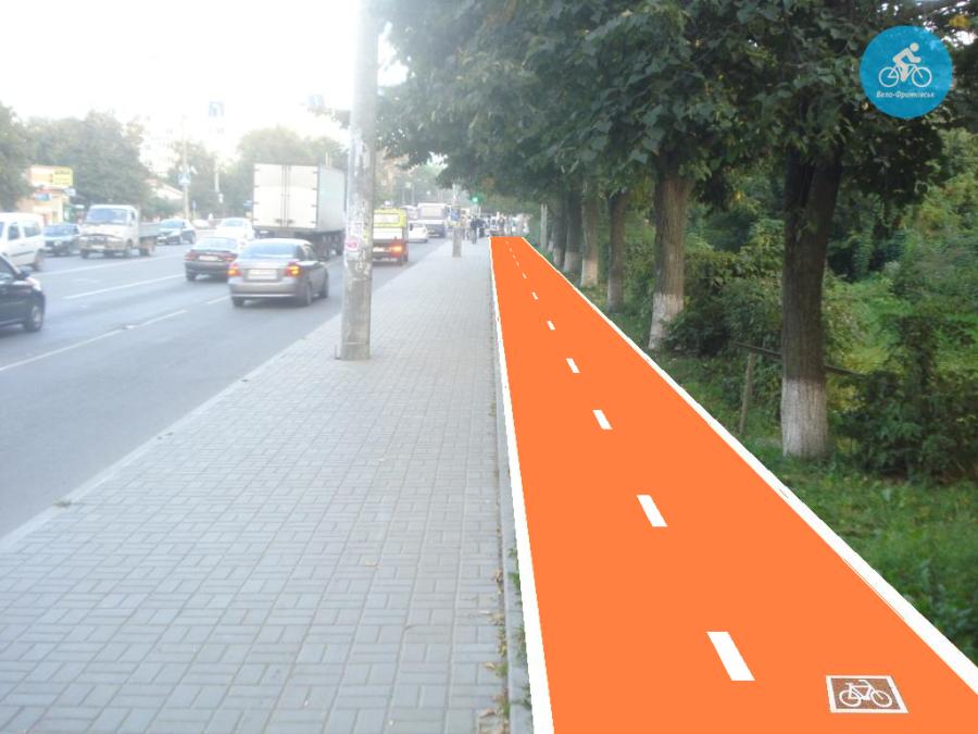 Іванофранківцям показали як можуть виглядати велодоріжки на Галицькій (фото) - фото 4