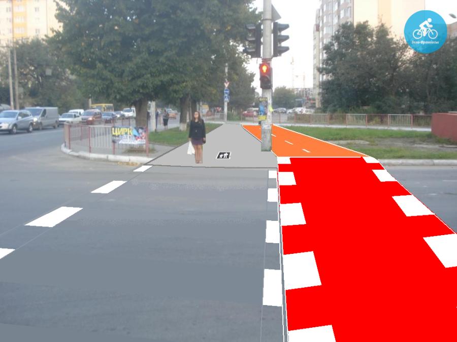 Іванофранківцям показали як можуть виглядати велодоріжки на Галицькій (фото) - фото 7