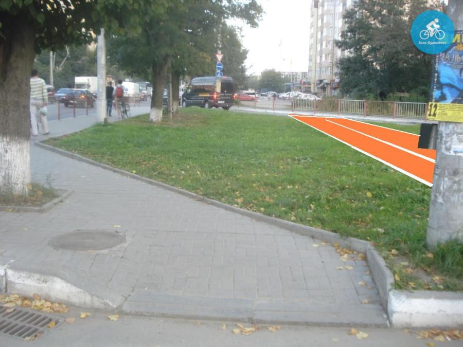 Іванофранківцям показали як можуть виглядати велодоріжки на Галицькій (фото) - фото 8