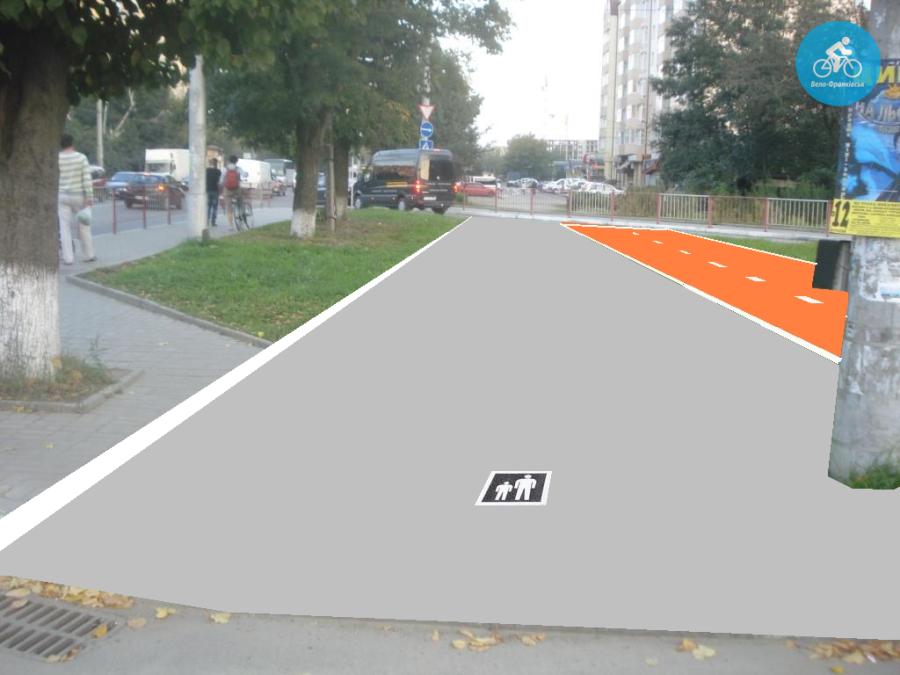 Іванофранківцям показали як можуть виглядати велодоріжки на Галицькій (фото) - фото 9