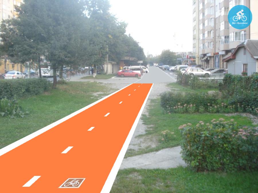 Іванофранківцям показали як можуть виглядати велодоріжки на Галицькій (фото) - фото 11