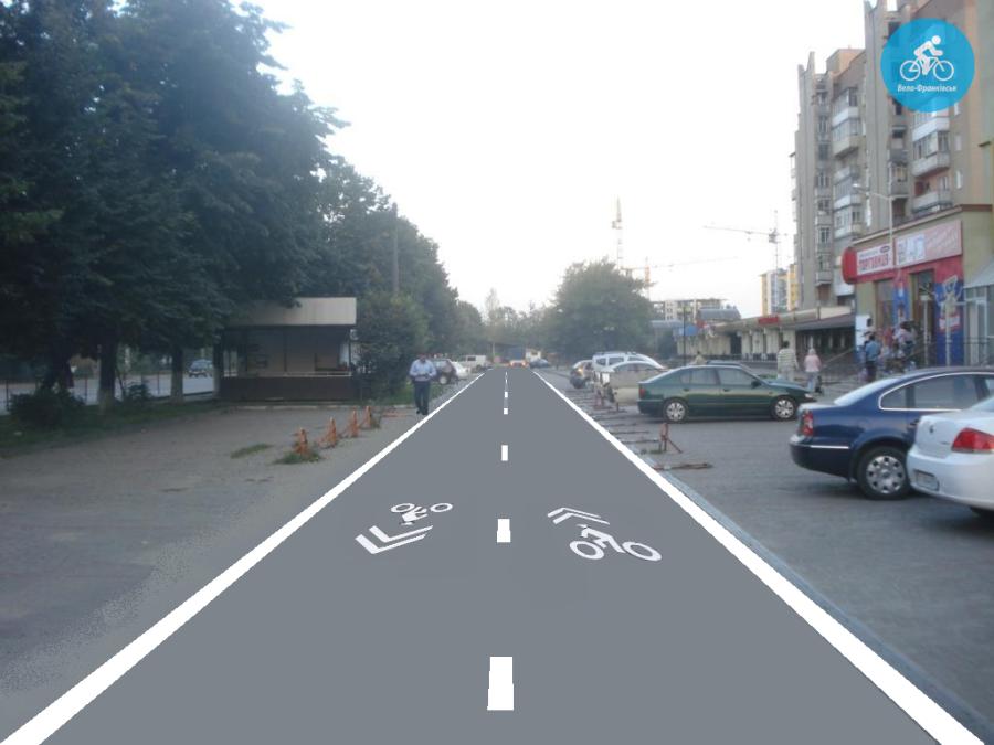 Іванофранківцям показали як можуть виглядати велодоріжки на Галицькій (фото) - фото 12