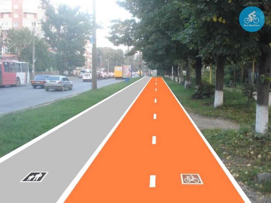 Іванофранківцям показали як можуть виглядати велодоріжки на Галицькій (фото) - фото 15