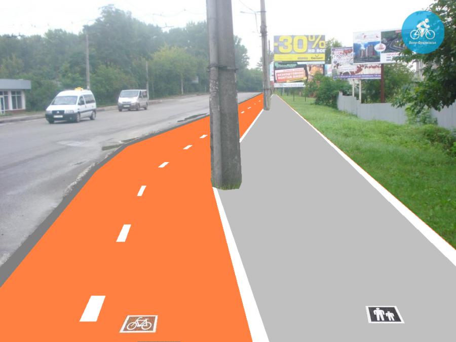 Іванофранківцям показали як можуть виглядати велодоріжки на Галицькій (фото) - фото 18