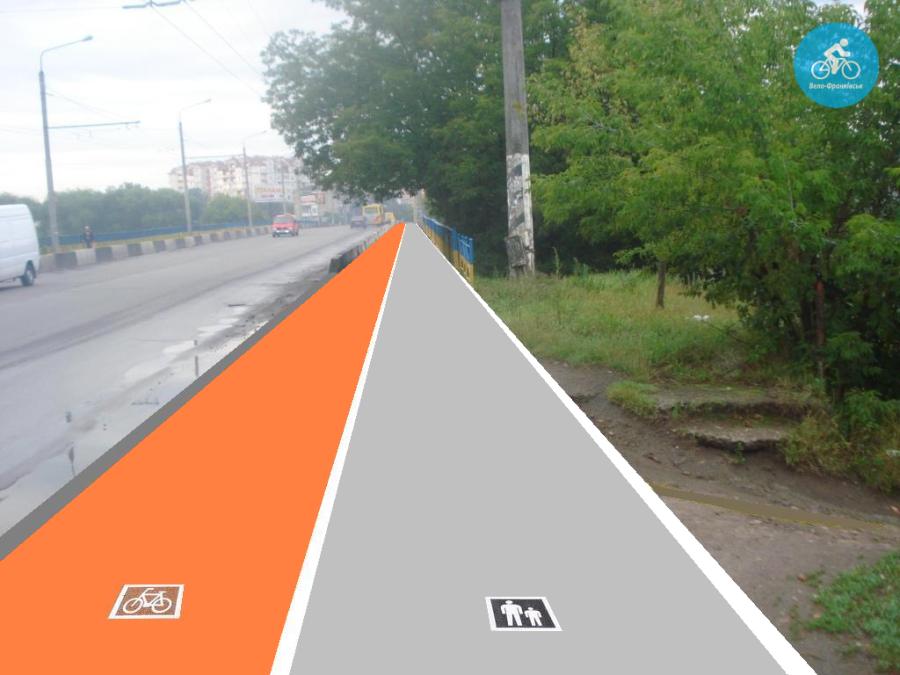Іванофранківцям показали як можуть виглядати велодоріжки на Галицькій (фото) - фото 21