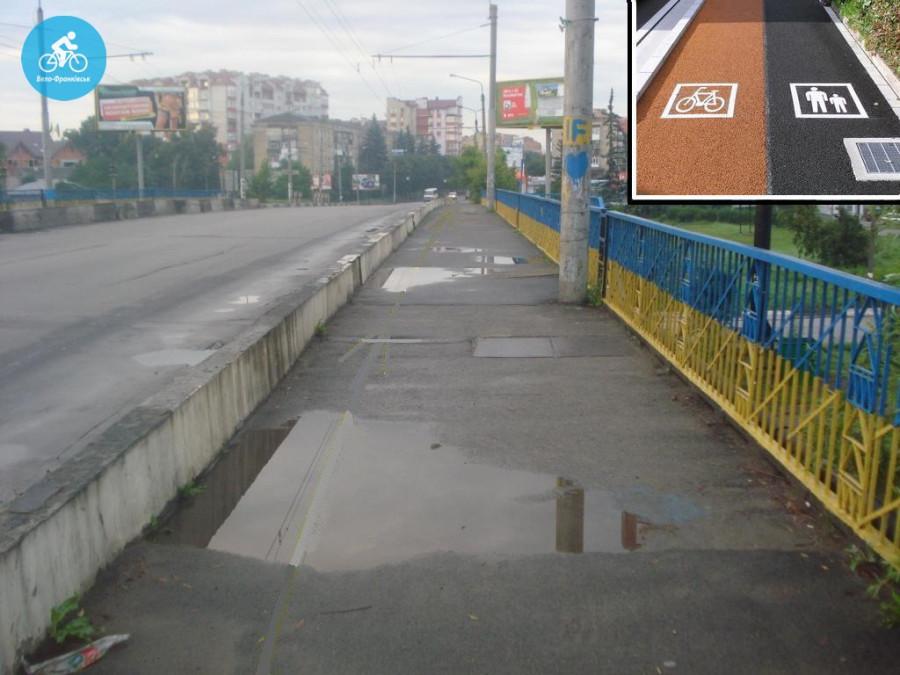 Іванофранківцям показали як можуть виглядати велодоріжки на Галицькій (фото) - фото 22