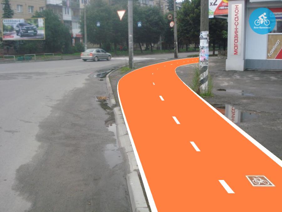 Іванофранківцям показали як можуть виглядати велодоріжки на Галицькій (фото) - фото 26