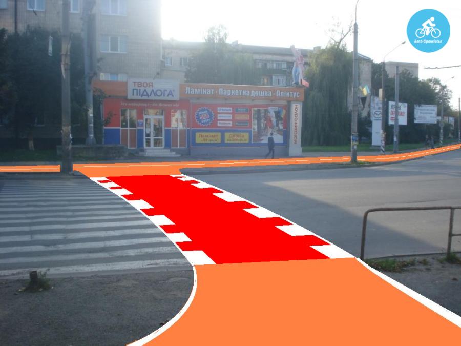 Іванофранківцям показали як можуть виглядати велодоріжки на Галицькій (фото) - фото 27