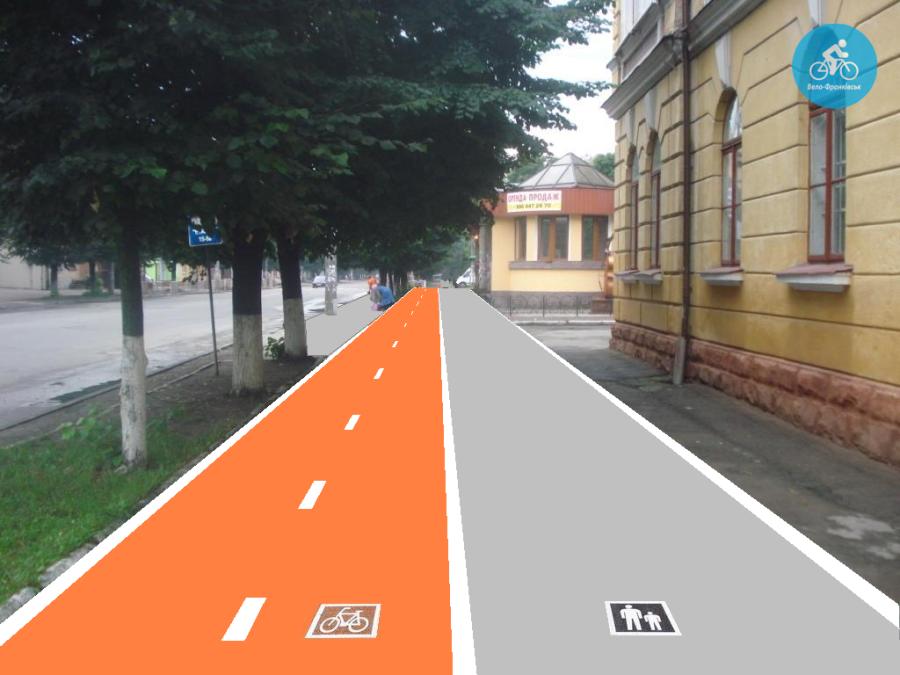Іванофранківцям показали як можуть виглядати велодоріжки на Галицькій (фото) - фото 29