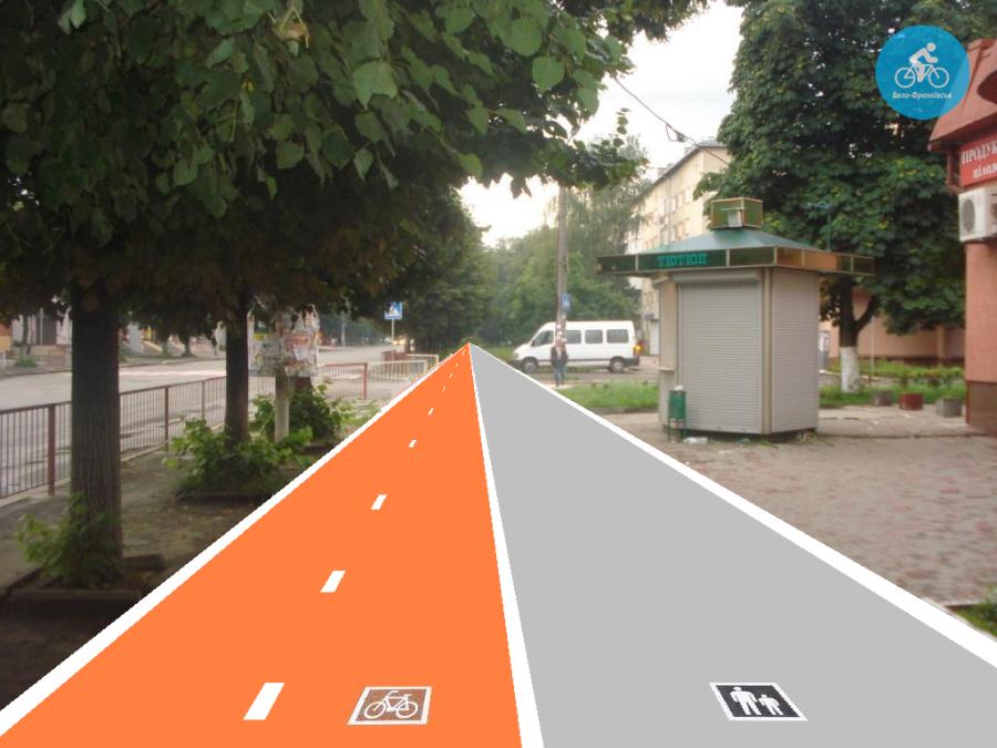 Іванофранківцям показали як можуть виглядати велодоріжки на Галицькій (фото) - фото 30