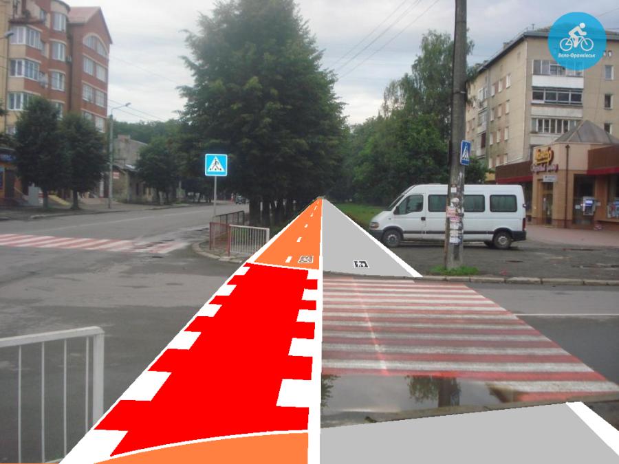 Іванофранківцям показали як можуть виглядати велодоріжки на Галицькій (фото) - фото 31