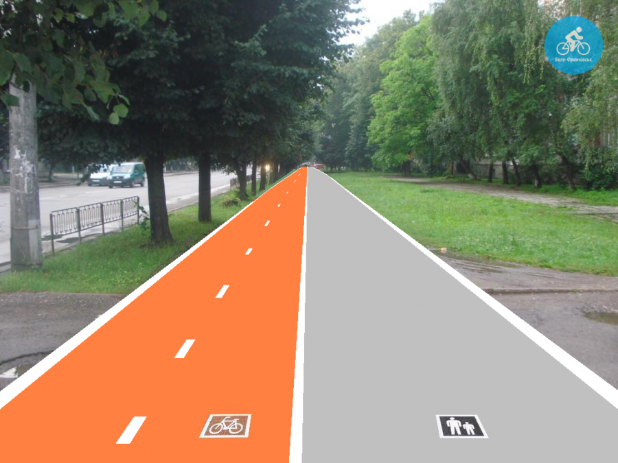 Іванофранківцям показали як можуть виглядати велодоріжки на Галицькій (фото) - фото 32