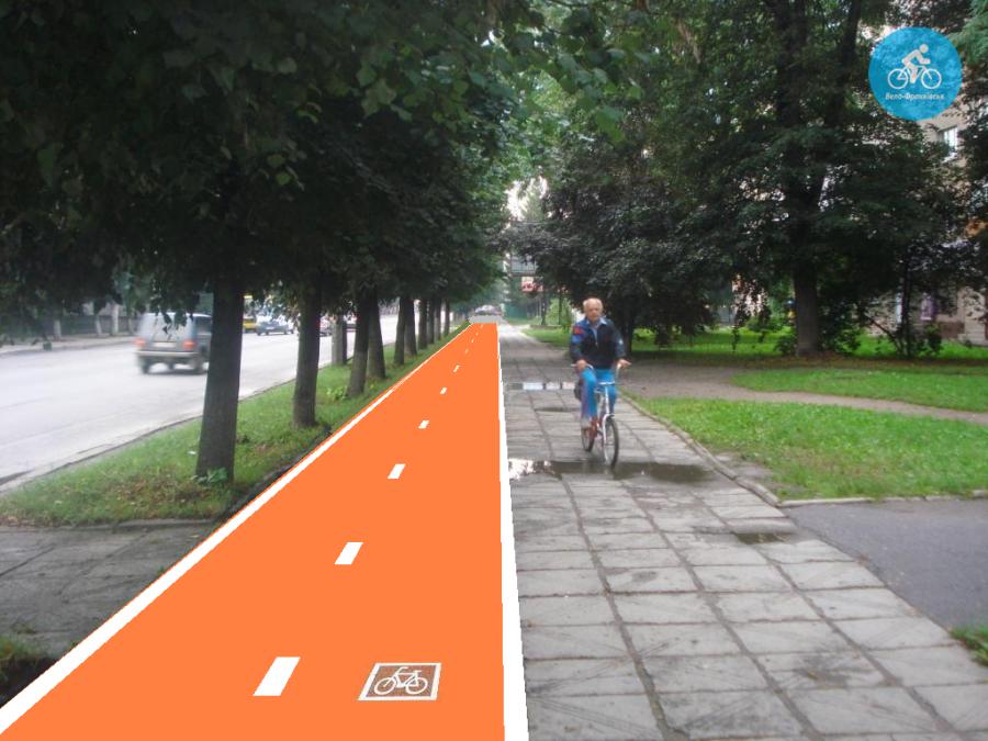 Іванофранківцям показали як можуть виглядати велодоріжки на Галицькій (фото) - фото 33