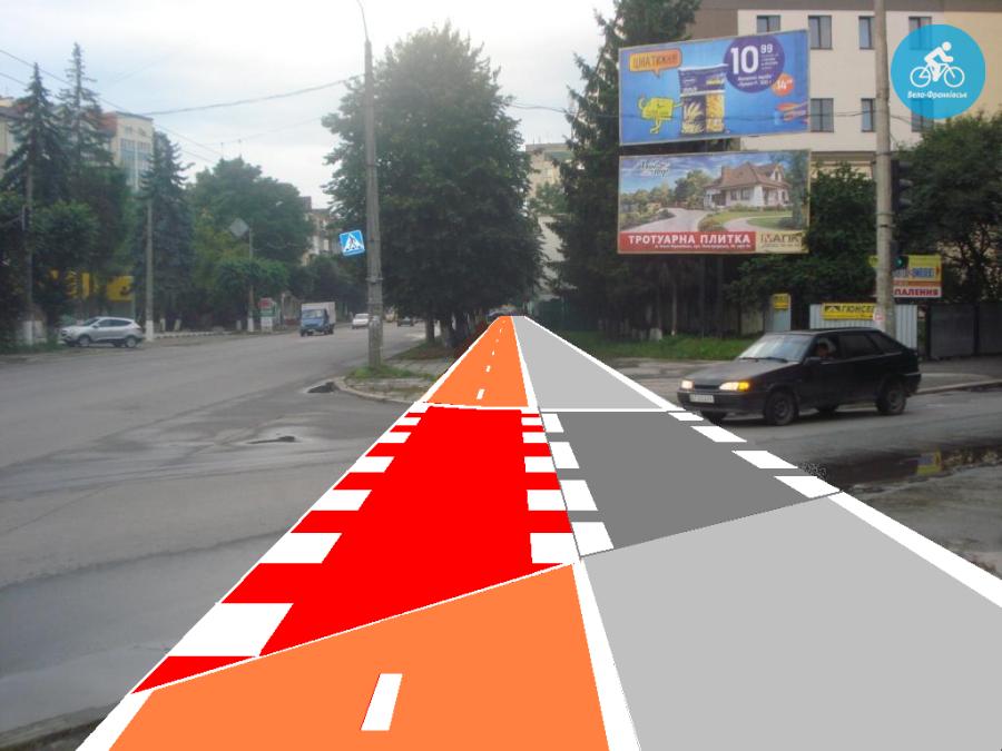 Іванофранківцям показали як можуть виглядати велодоріжки на Галицькій (фото) - фото 34