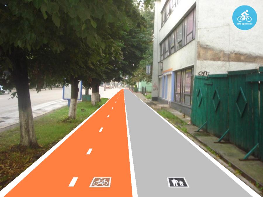 Іванофранківцям показали як можуть виглядати велодоріжки на Галицькій (фото) - фото 35