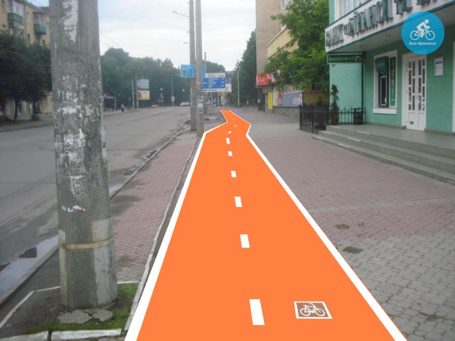 Іванофранківцям показали як можуть виглядати велодоріжки на Галицькій (фото) - фото 36