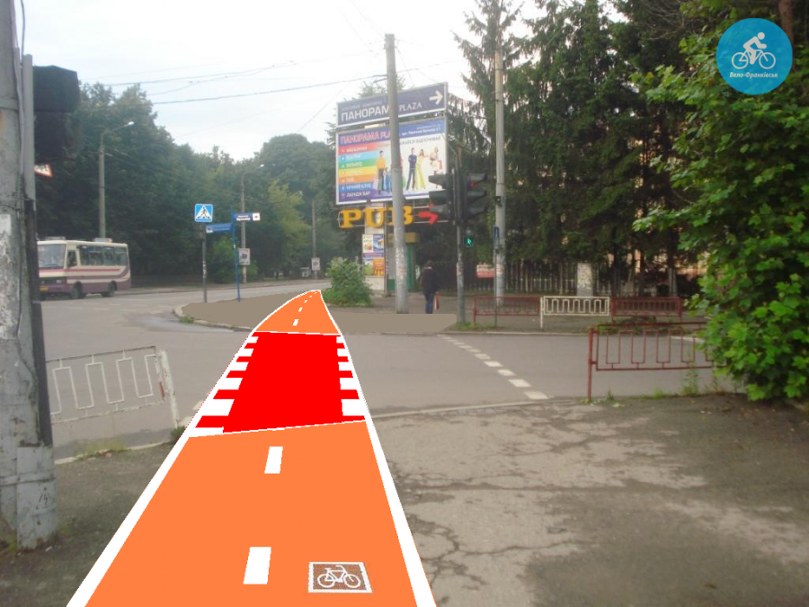 Іванофранківцям показали як можуть виглядати велодоріжки на Галицькій (фото) - фото 37