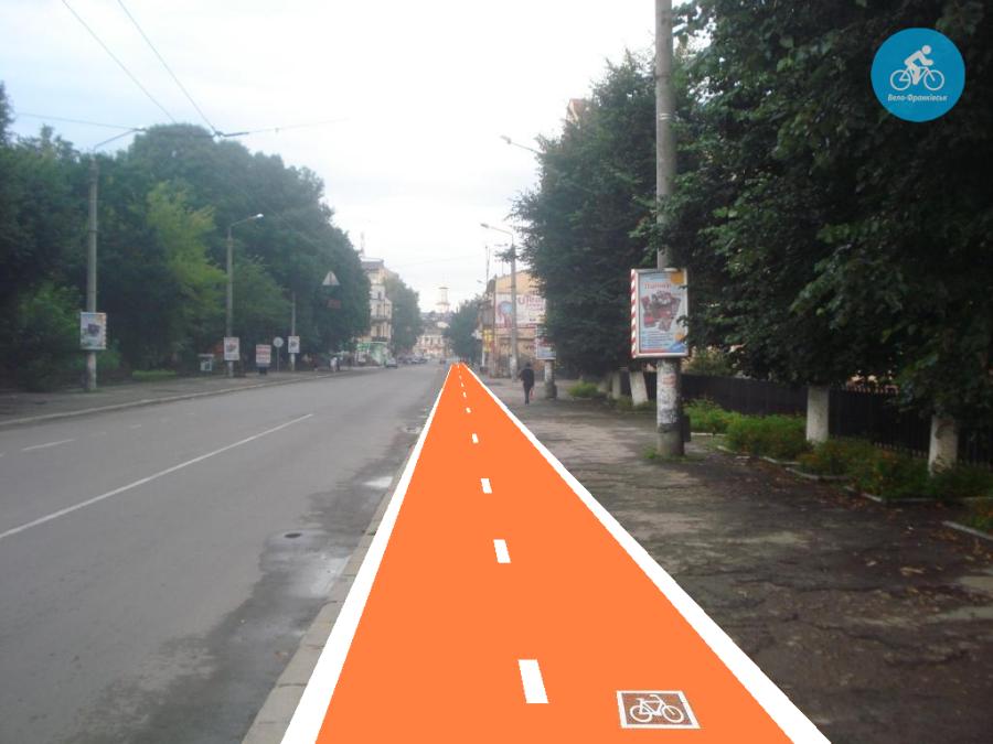 Іванофранківцям показали як можуть виглядати велодоріжки на Галицькій (фото) - фото 38