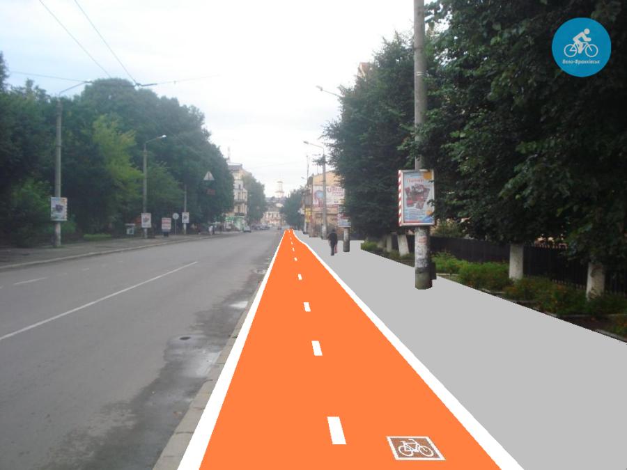 Іванофранківцям показали як можуть виглядати велодоріжки на Галицькій (фото) - фото 39