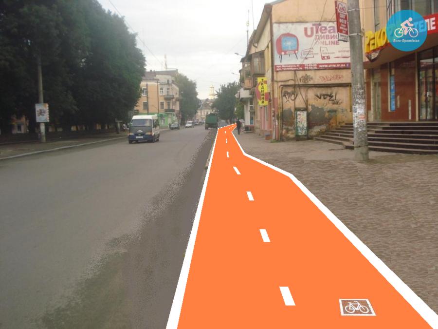 Іванофранківцям показали як можуть виглядати велодоріжки на Галицькій (фото) - фото 40