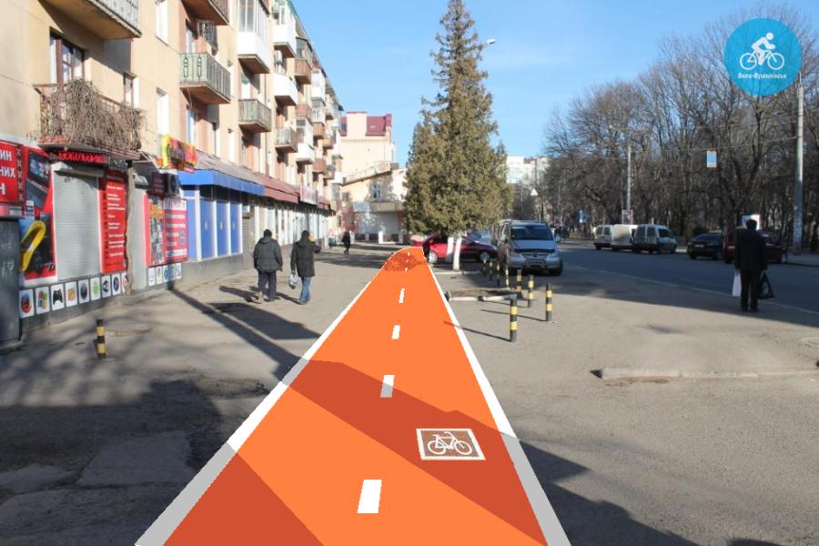 Іванофранківцям показали як можуть виглядати велодоріжки на Галицькій (фото) - фото 42