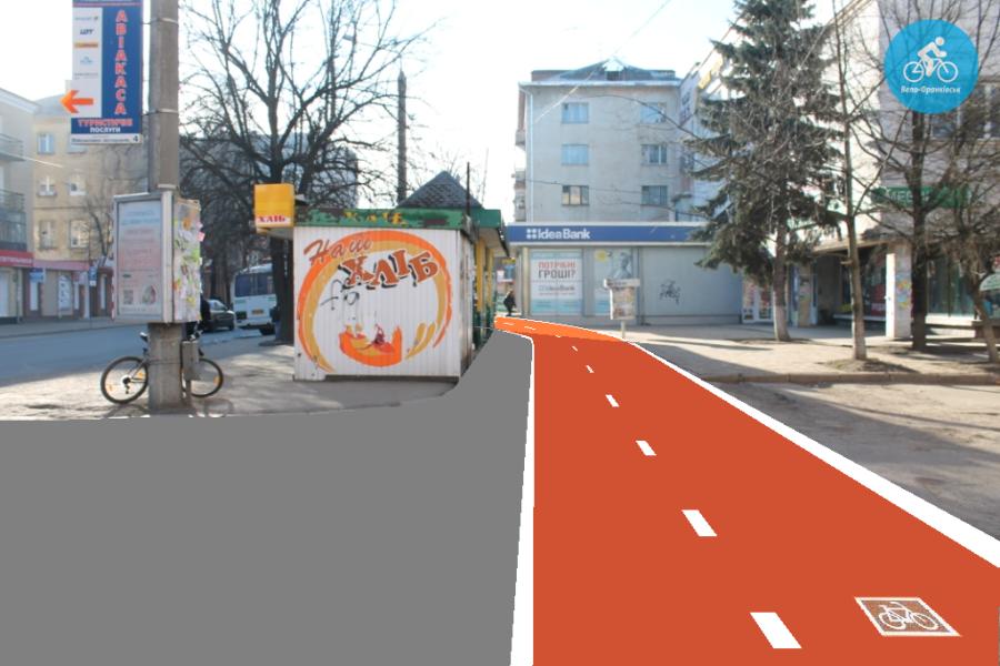 Іванофранківцям показали як можуть виглядати велодоріжки на Галицькій (фото) - фото 44