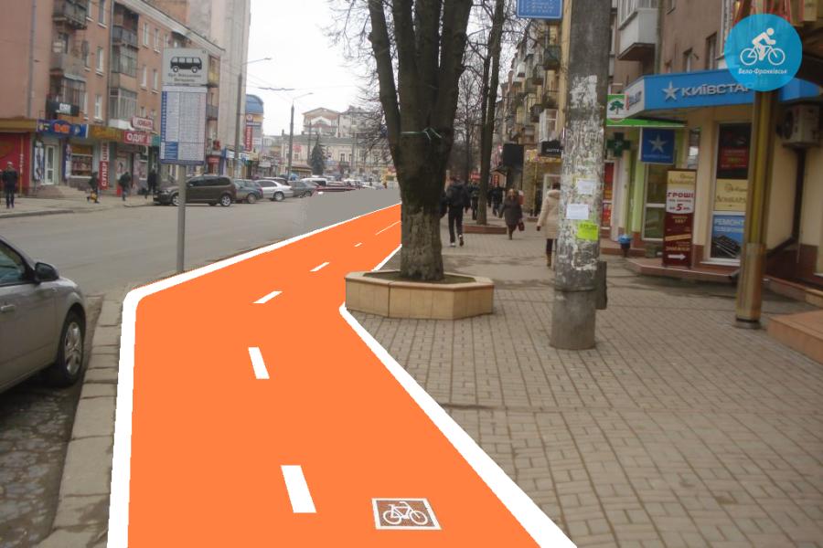 Іванофранківцям показали як можуть виглядати велодоріжки на Галицькій (фото) - фото 51