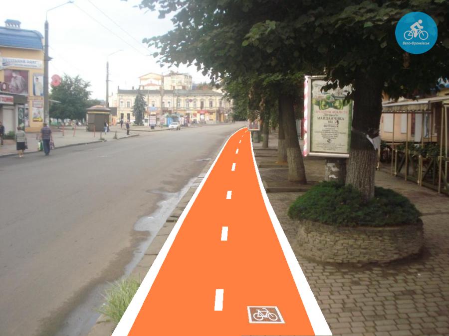Іванофранківцям показали як можуть виглядати велодоріжки на Галицькій (фото) - фото 54