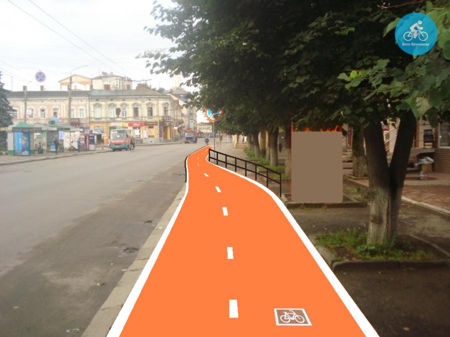 Іванофранківцям показали як можуть виглядати велодоріжки на Галицькій (фото) - фото 56