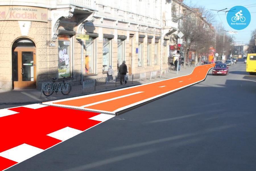Іванофранківцям показали як можуть виглядати велодоріжки на Галицькій (фото) - фото 59