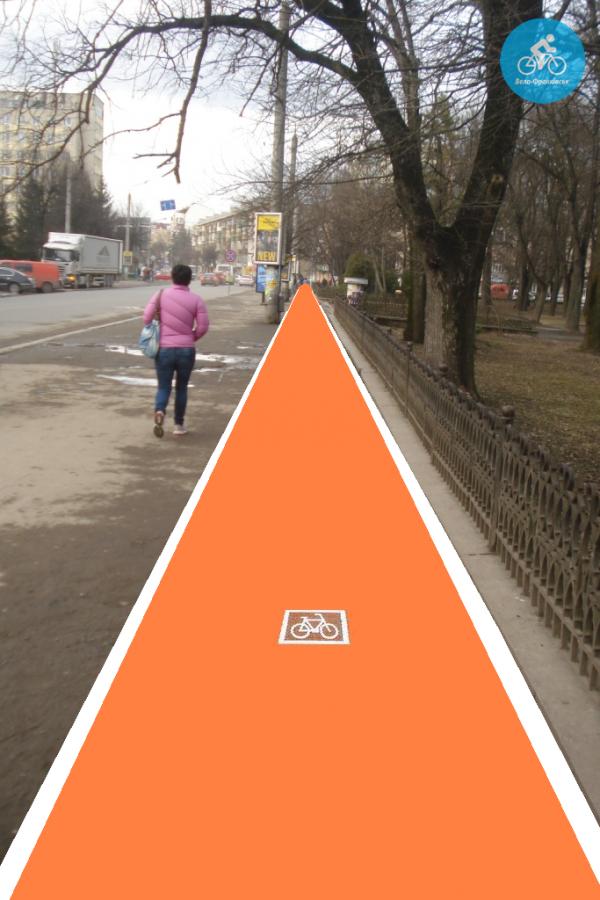 Іванофранківцям показали як можуть виглядати велодоріжки на Галицькій (фото) - фото 63